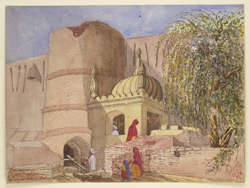 Tomb beside the city wall, Peshawar (N.W.F.P.). 20 March 1879